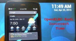 Set OpenELEC Correct Time