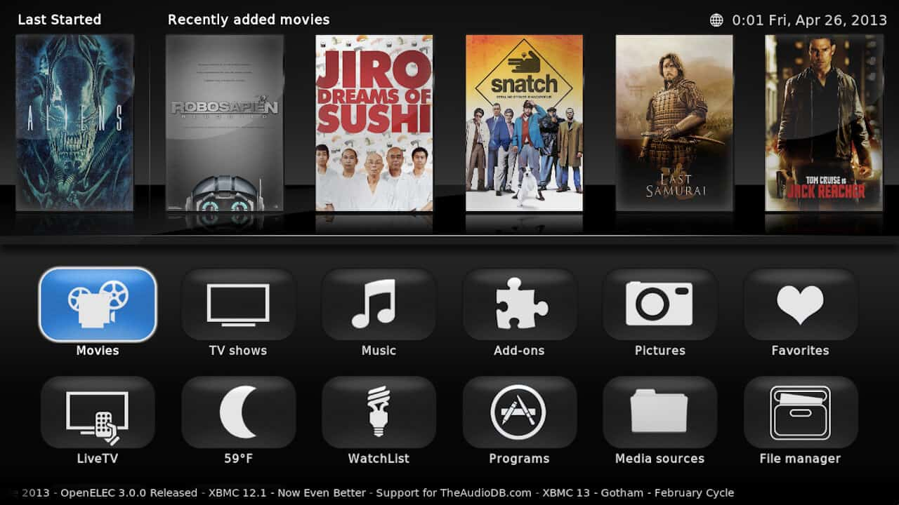 Raspberry pi xbmc video addons