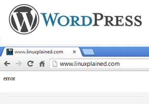 """Fix for WordPress blank page with the word """"error"""""""