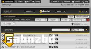 Sabnzbd 1.0.3