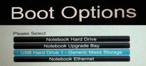 Boot Ubuntu Live USB from BIOS