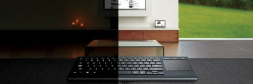 Illuminated HTPC Keyboard with TouchPad