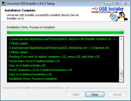 Universal USB Installer - Ubuntu Live USB