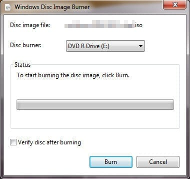 Burning a Puppy Linux Live CD