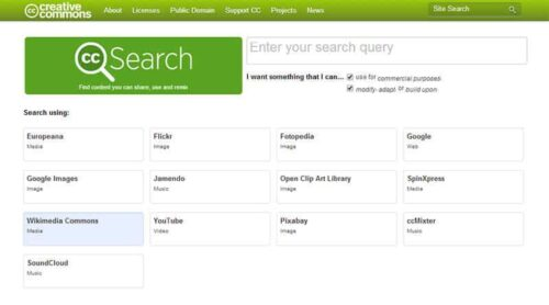 CC Search Engine Website