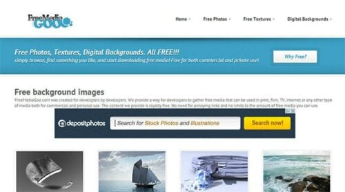 Free Media Goo Website Image