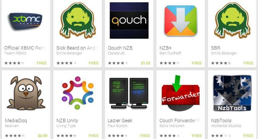 Android Apps for HTPC and Home Server Management