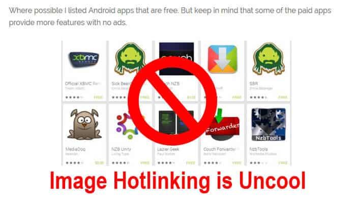 image hotlinking protection ft