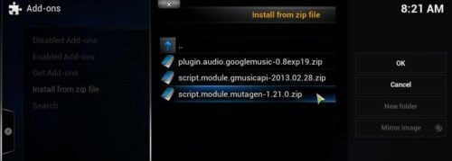Install Google Music Addon on XBMC