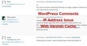 [Solved] Varnish WordPress comments IP address problem