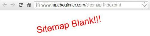 WordPress Yoast SEO Sitemap Blank