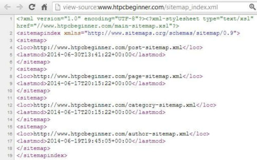 Yoast XML Sitemap Source