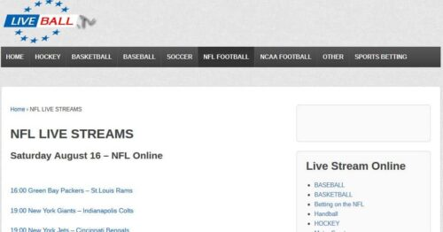 liveball.tv - College Football Live Streaming Online