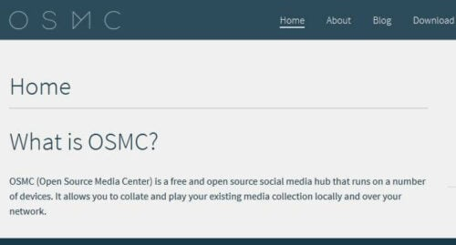 OSMC - Open Source Media Center