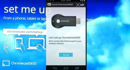 Setup Chromecast using Phone or Tablet