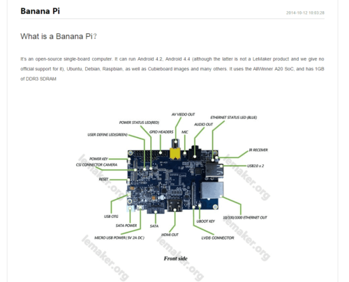 Alternatives to Raspberry Pi - Banana Pi