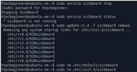 Uninstall SickBeard on Ubuntu