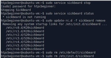 Uninstall SickBeard on Ubuntu