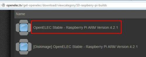 Download OpenELEC for Raspberry Pi
