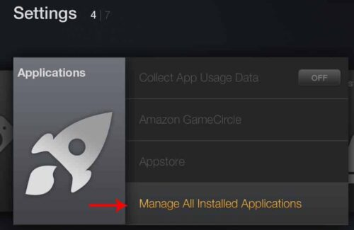 Manage Installed Fire TV Applications