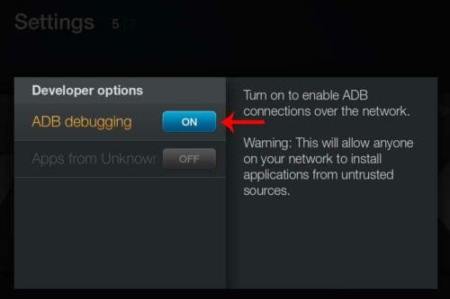 Enable ADB Debugging Amazon Fire TV