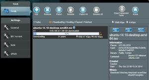 ASUS Download Master Interface