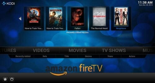 Amazon Fire TV Kodi Guide