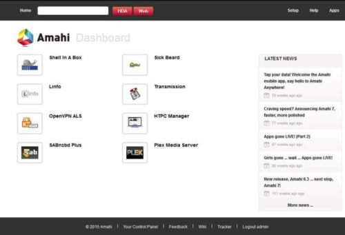 Amahi Home Server Dashboard
