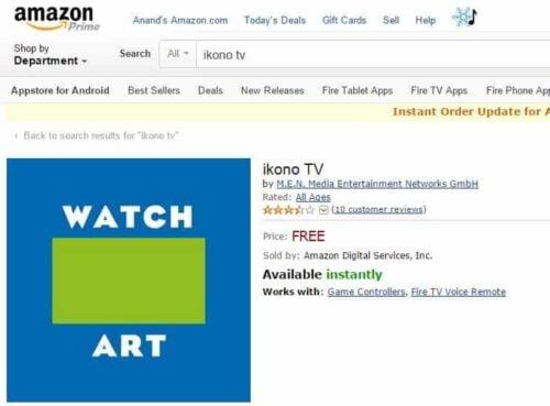 Install ikono TV App on Fire TV