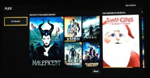 Plex on Roku Movies Home