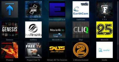 Kodi Addon Installer Interface