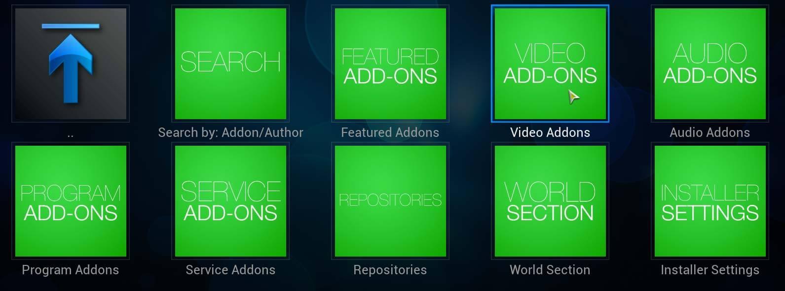 Install Addon Installer on Kodi, aka Fusion Installer, from