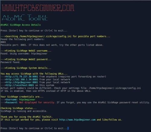 AtoMiC ToolKit Script Execution Example