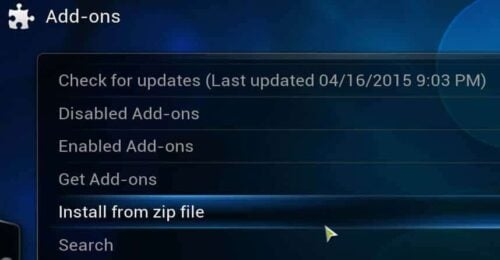 Install Kodi Addon from Zip