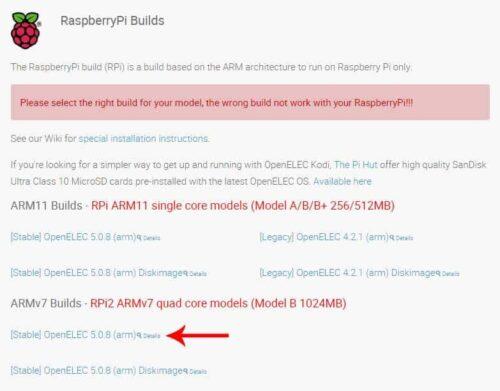 Download OpenELEC Raspberry Pi 2 Build