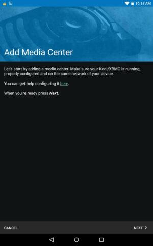Install Kore Add Media Center