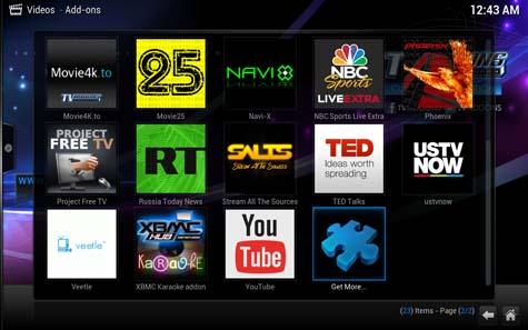 Kodi with addons
