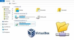 Mount VirtualBox shared folder on Windows guest OS