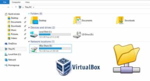 VirtualBox Shared Folders Windows