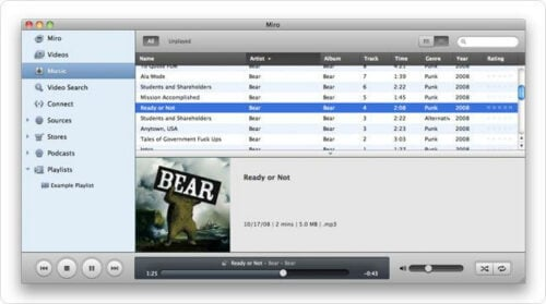 Miro Video and Music Player