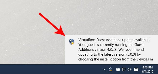 Update VirtualBox Guest Additions on Windows guest OS
