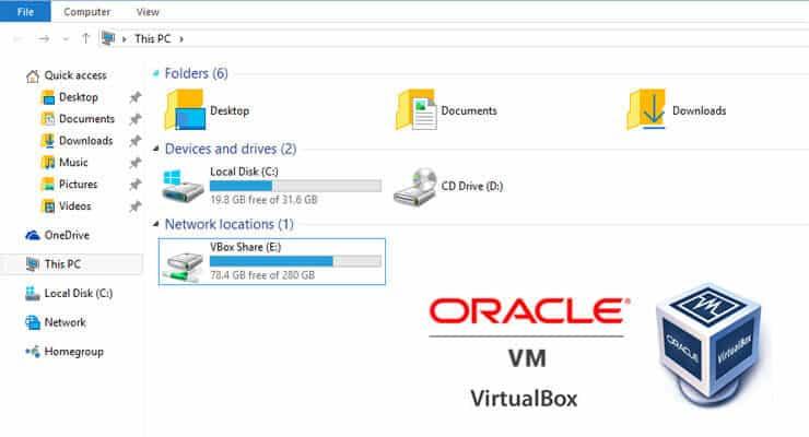 Virtualbox Shared Folders Setup