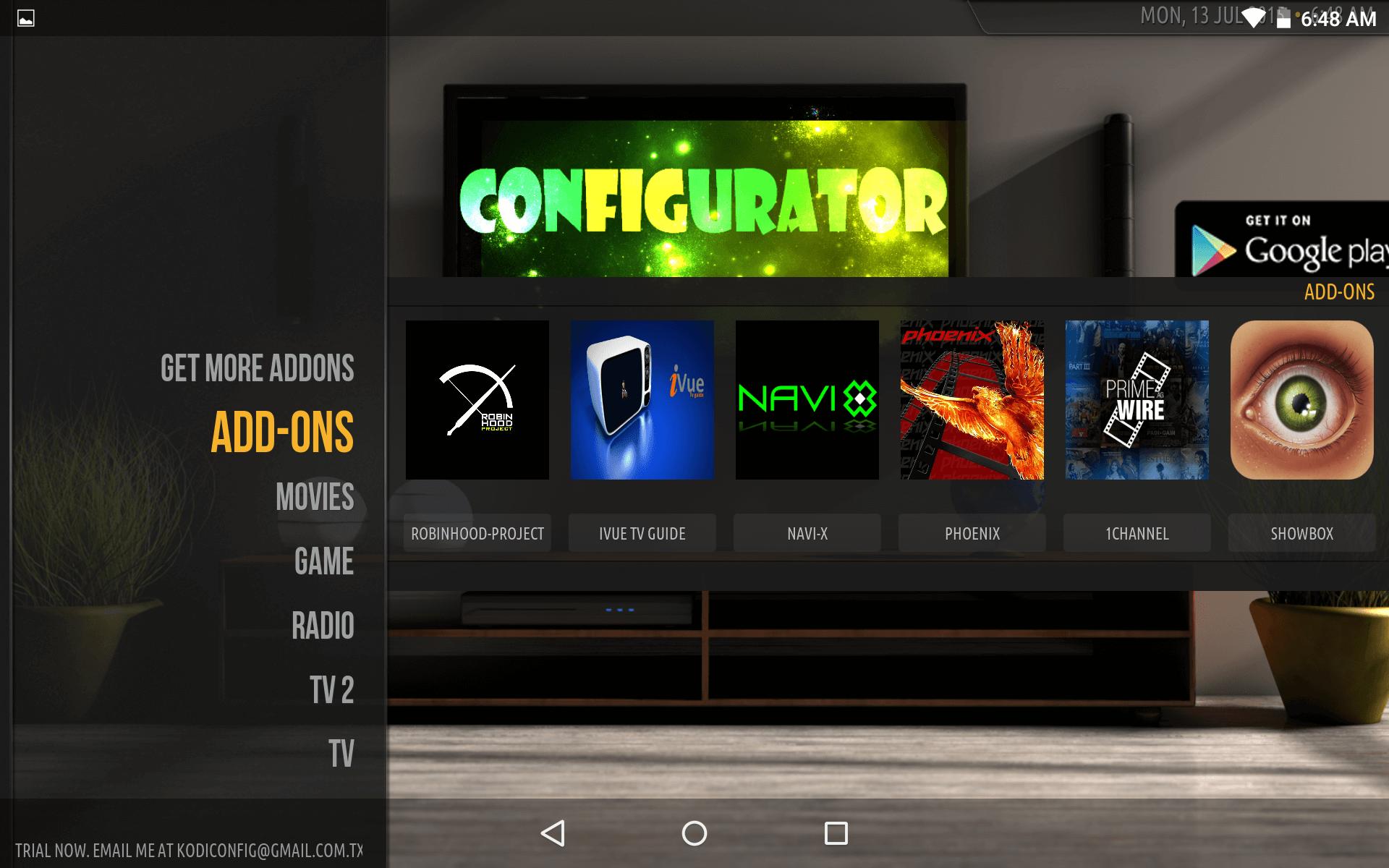 kodi configurator for windows 10