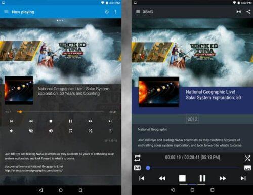 Playback interface Yatse and Kore