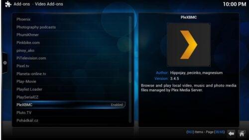 Plex and Kodi - Install PleXMBC