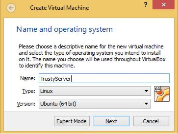 VirtualBox Create Ubuntu Server VM