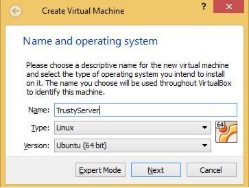 VirtualBox Create Ubuntu Server VM
