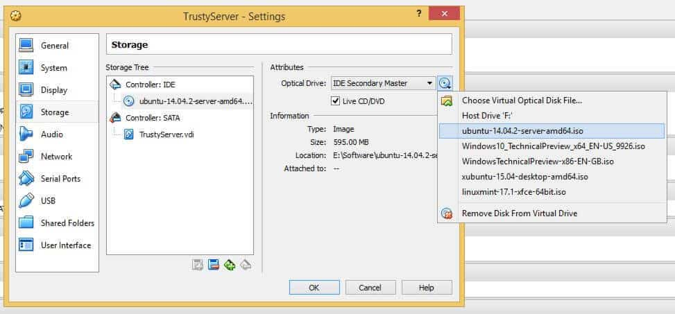 install ubuntu 16.04 lts on virtualbox/windows 10