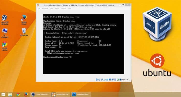 How to run a Ubuntu home server on VirtualBox VM?