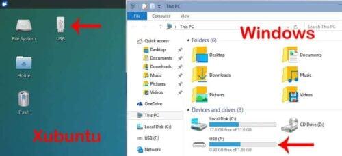 Mounted VirtualBox USB Drive